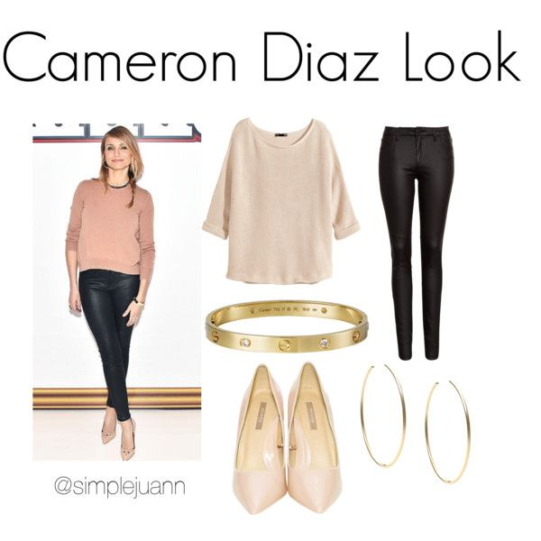 Cameron Diaz Look by simplejuann on Polyvore featuring H&M, FiveUnits, Cartier and Michael Kors
