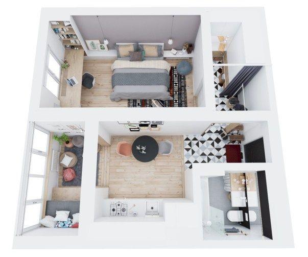 Stylish Studio Apartment Floor Plans Ideas 08 Wohnung Grundriss 40 Stylish Studio Apartment Floor Plans Ideas Ide Apartemen Ide Dekorasi Rumah Desain Rumah