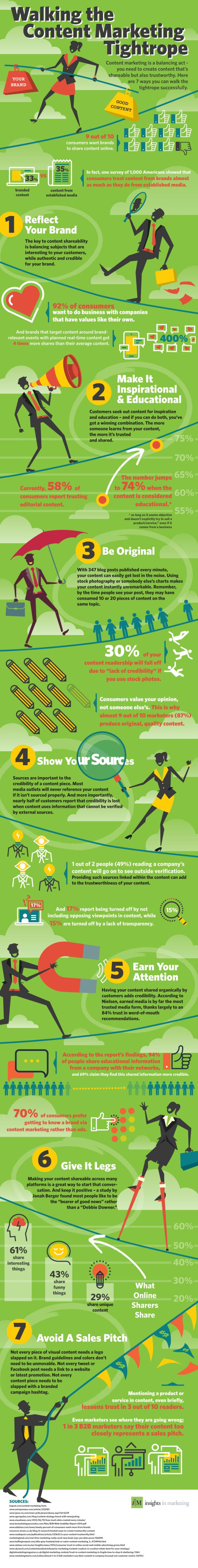 What Are 7 Ways To Balance The Tightrope Of Content Marketing? #infographic