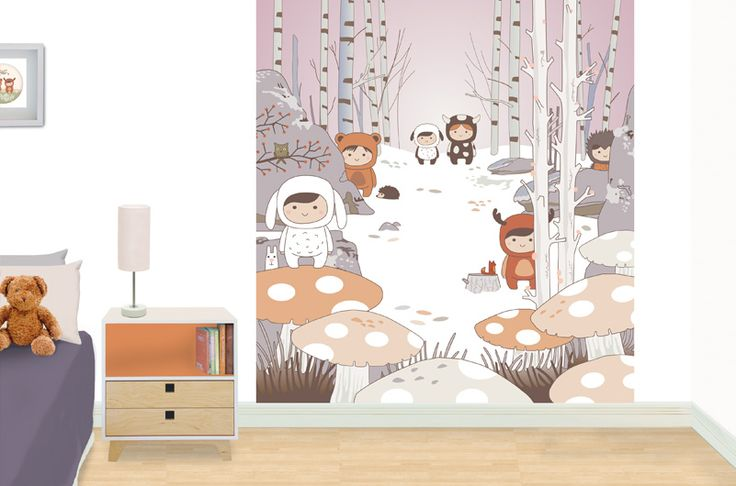 Forest - kid's bedroom mural.