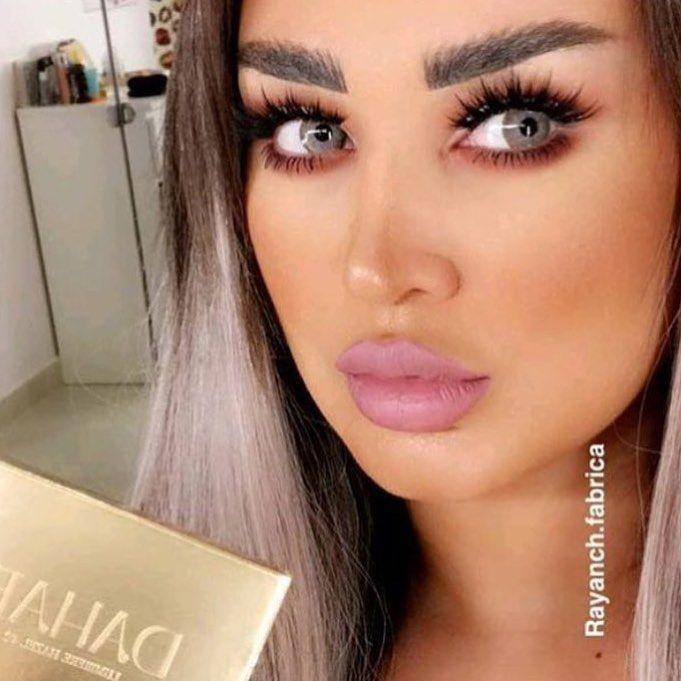 عدسات دهب لمار هازل Bushy Eyebrows Fairy Makeup Lenses Eye