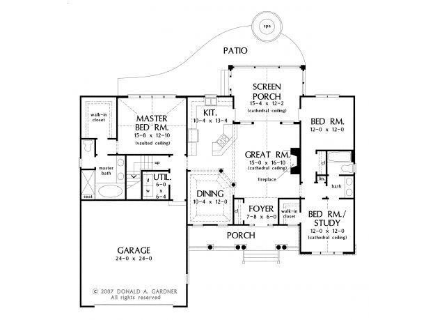I Like The Master Bath Closet Hall 3 Bedroom Rambler Plans Pinterest House Plans Stairs