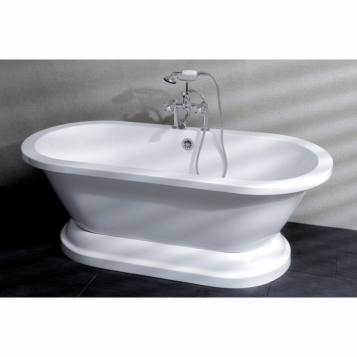 Features:  -Capacity: 55 Gallon.  -Acrylic sheet construction.  -Stainless steel base adjusters at the bottom of the tub.  -Aqua Eden collection.  -Contemporary style.  Finish: -White.  Material: -Fib