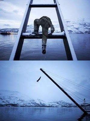 Так заканчивается полоса препятствий для бойца спецотряда FSK в Норвегии.