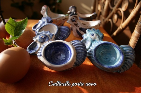 Colored small hens egg cup on sale on http://www.etsy.com/shop/LabLiu