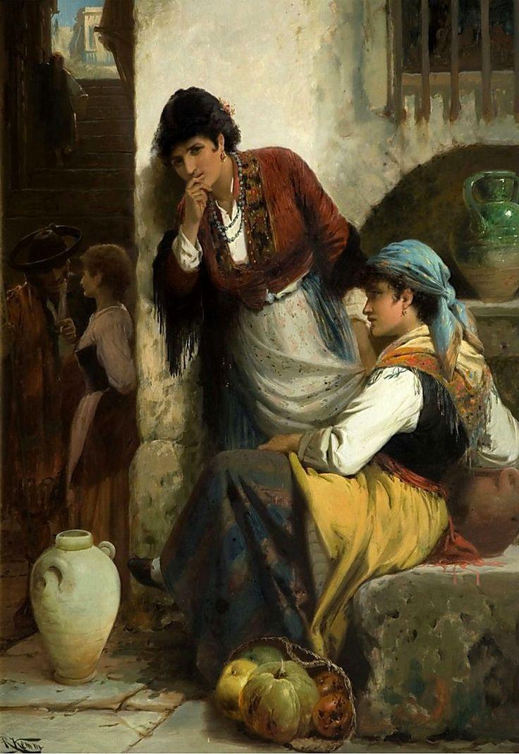 Галантный век в живописи художников антикварные картины