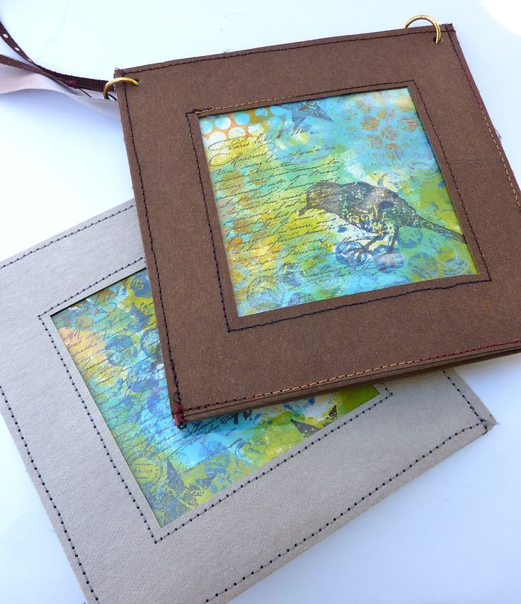 A badge holder or perhaps fill with your art. Made with kraft•tex™ by Normajean Brevik.