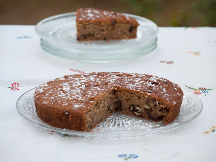 Gâteau aux Noix, Dattes & Sirop d'Érable #Vegan {sans œuf, sans gluten, sans lactose - #recette @ Au Vert Avec Lili}