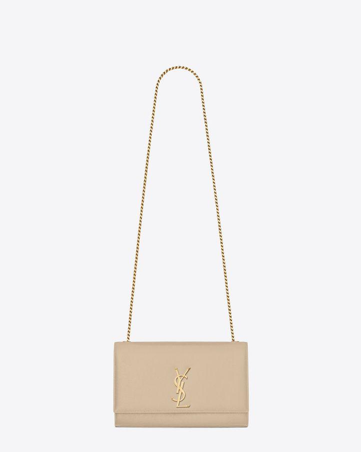 bdd3efb01d2 Kate medium in grain de poudre embossed leather | Bag n' Wallet | Small  leather bag, Medium bags, Saint laurent handbags
