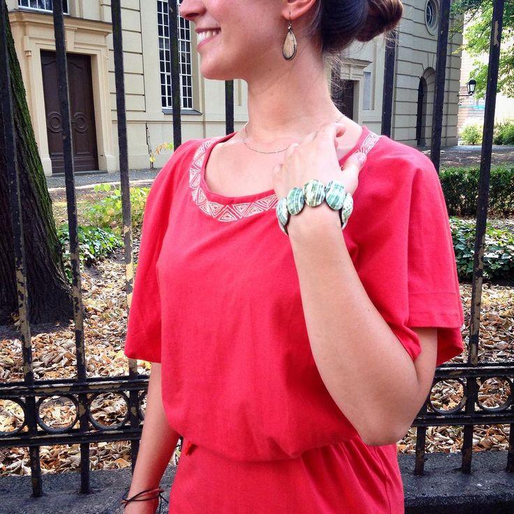 Nastassja wearing her favorite dress #Lebensgeschichte! #WEARASTORY #FairFashion #Summerfeeling