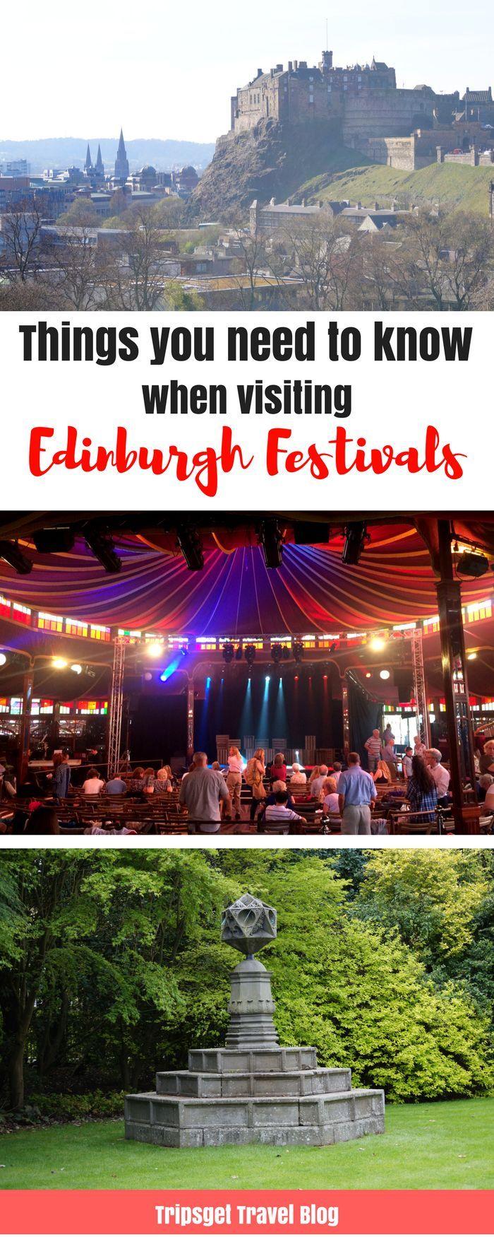 Everything you need to know before attending Edinburgh Festivals: Edinburgh Fringe and Edinburgh International Festival. Travel in Europe.