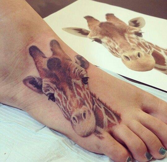 Realistic Giraffe Foot Tattoo By Cau Janoni