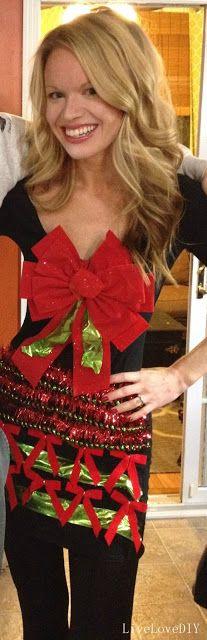 LiveLoveDIY: How To Make An Ugly Christmas Sweater Dress