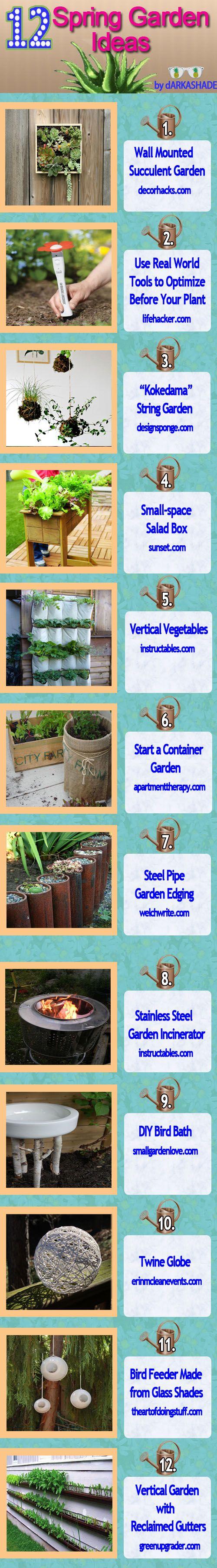 12 Spring Garden Ideas: Garden Ideas, Creative Ideas, Gardening Ideas, Awesome Ideas, Gardens, Spring Garden, 12 Spring, Craft Ideas