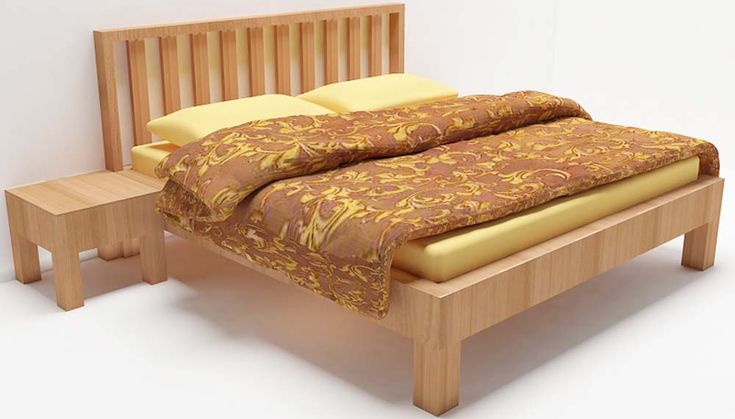 Cleverly crafted bed with bedside table made up of plywood with laminate finish. The mission pattern of the headboard will add extra look. If you feel you wanna add lovely look to make your contemporary bedroom even glowing then scaleinch is the right choice. Mattresses and other accessories will be charged extra.