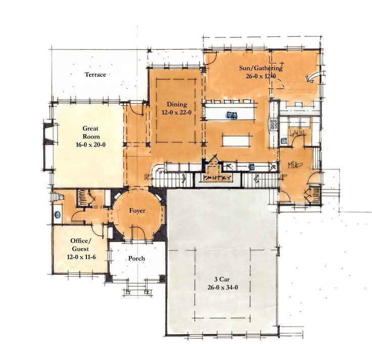120 best large homes images on pinterest house floor for 4200 sq ft house plans