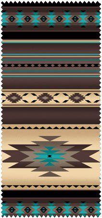Native Saddle Blanket-Sepia Fabric