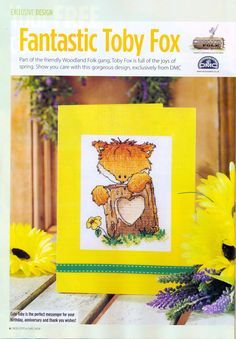 Woodland Folk Fantastic Toby Fox Cross Stitch Card Shop Issue 89 March/April 2013 Hardcopy in Folder