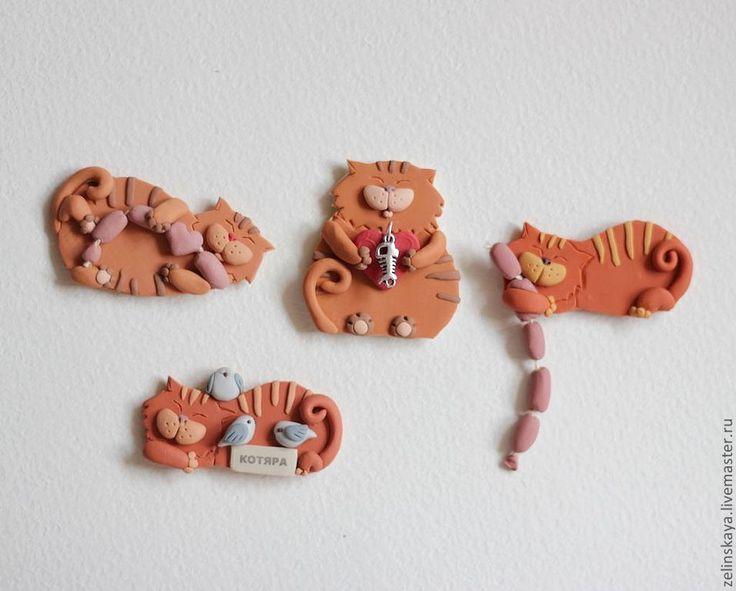 Купить Котяра и сосиски) Магнит - кот, котяра, сосиски, забавный, смешной, юмор, сувенир