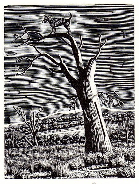 Lost XII 2008 by David Frazer 10cm X 7cm Wood engraving  $330.00 Available from www.cascadeprintroom.com.au  We ship worldwide. Laybys and gift vouchers available