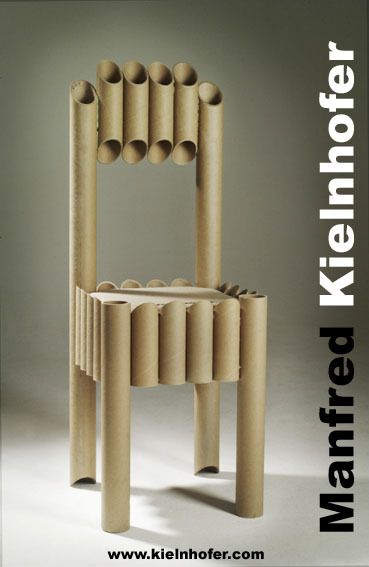 Paper Tube Chair by Manfred Kielnhofer, via Behance - great idea to make down scale for a doll chair