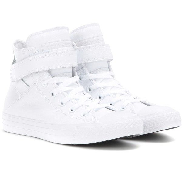 converse high tops white. converse chuck taylor all star brea leather high-top sneakers ($98) ❤ liked high tops white