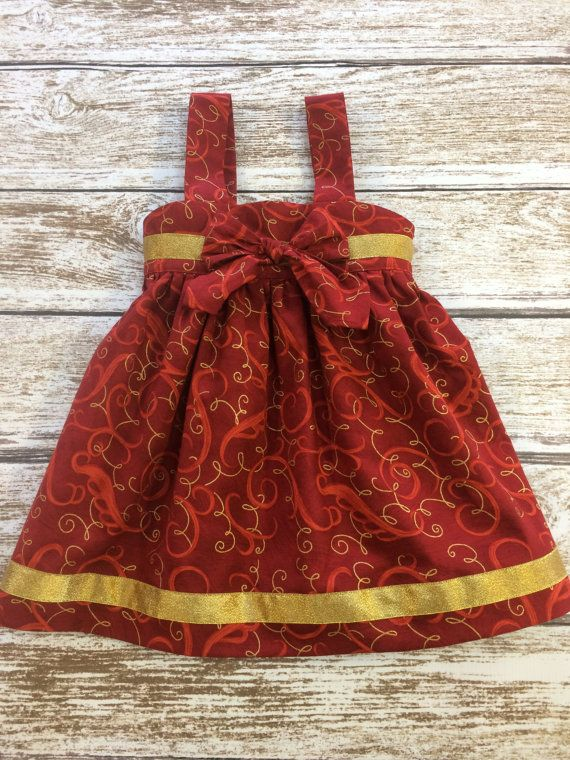 Baby Girls Christmas Dress  Toddler Girls by SimplyTotsBoutique