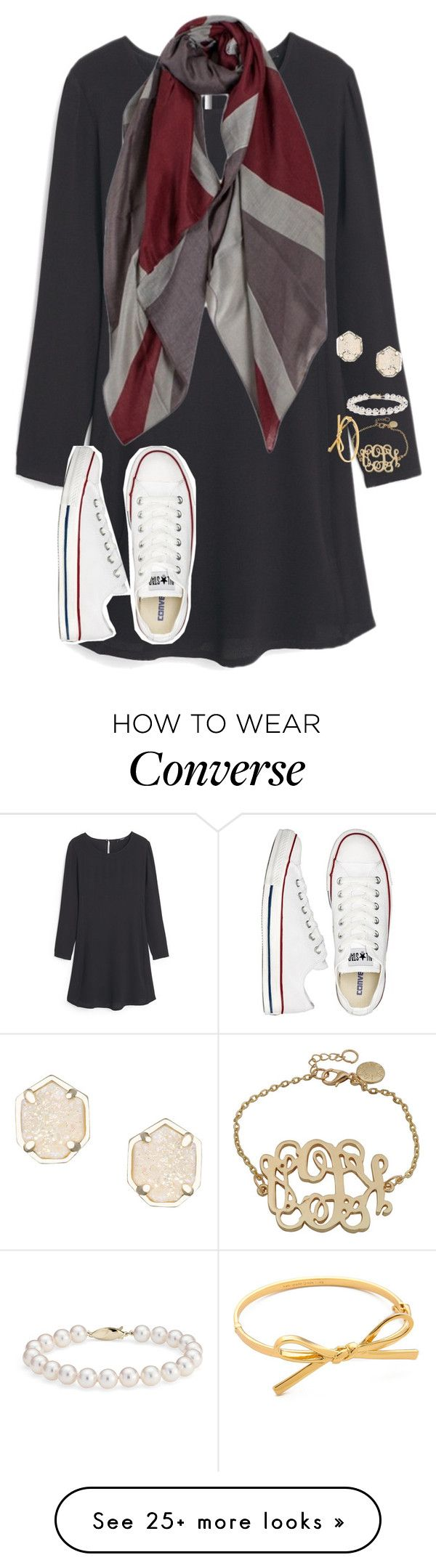 """""""Made a boat hat today!"""" by preppy-southern-gals on Polyvore featuring MANGO, Converse, Blue Nile, Kate Spade and Kendra Scott"""