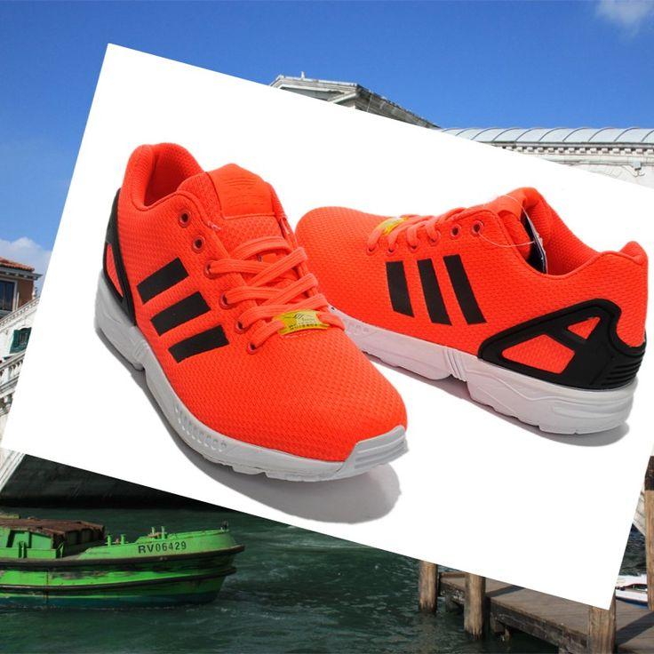 online store e32c3 ea90d ... Adidas Originals ZX Flux Scarpa Unisex Arancione Nero HOT SALE! HOT  PRICE!