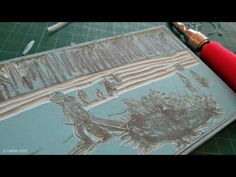 The secret of my linocut base art | Musings From The Studio