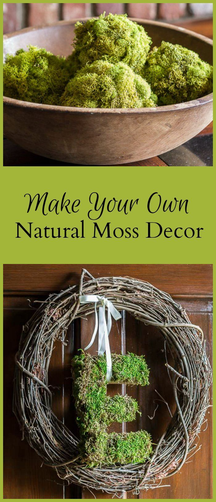 Bring a little of bit of the beauty of nature inside, by creating gorgeous natural moss decor, with just a few simple materials.