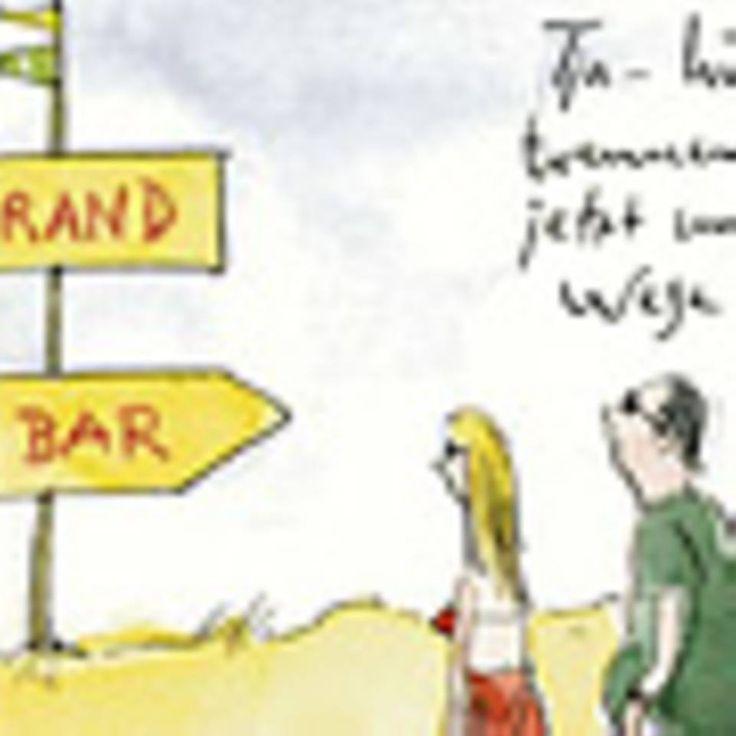 """Die schönsten Cartoons von Peter Gaymann - """"Peter Gaymann zeichnet seit 20 Jahren für die BRIGITTE Cartoons mitten aus dem Beziehungsleben. Jetzt wird er 60 - und wir gratulieren mit einer Fotoshow seiner lustigsten Bilder."""""""