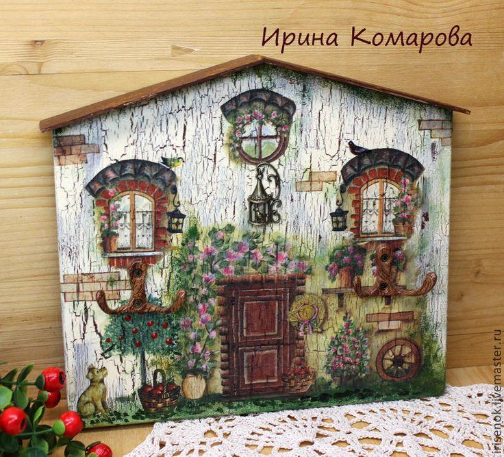 Купить Домик-ключница - коричневый, домик-ключница, ключница, Декупаж, подарок новоселам, подарок на новоселье