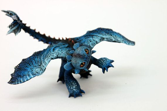 I want this so bad... :)  Baby Toothless Night Fury Dragon Sculpture by DemiurgusDreams