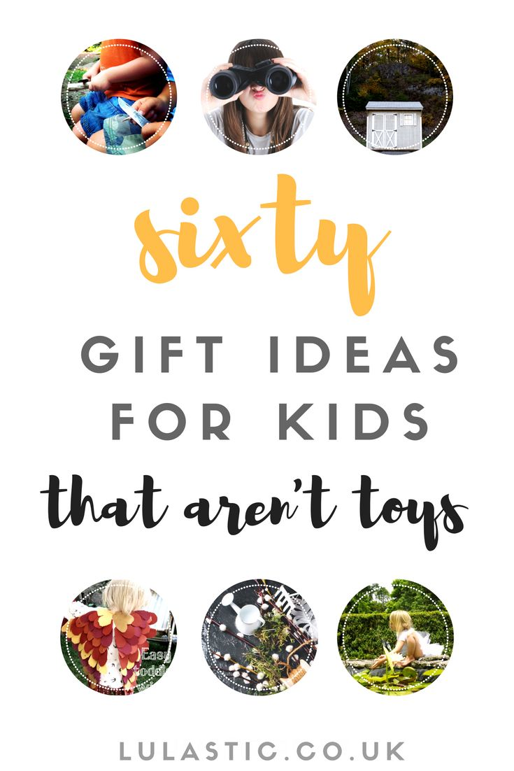 I asked 6000 people what the best gift they received as a kid was,their answers became this list of Gift Ideas for Kids - sixty alternatives to toys!