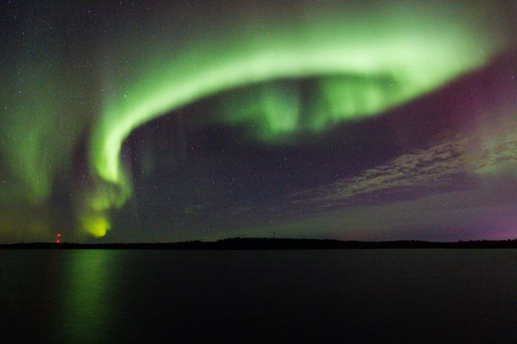 Northern Lights in Pello in Lapland, Finland