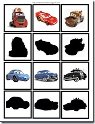 cartoons - disney's cars printable pack