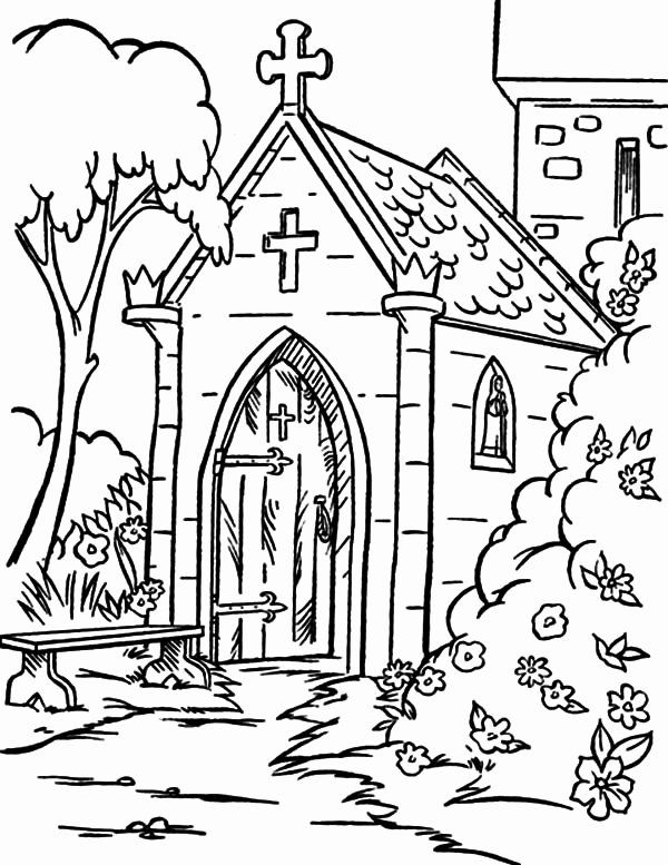 Free Coloring Pages Of Churches
