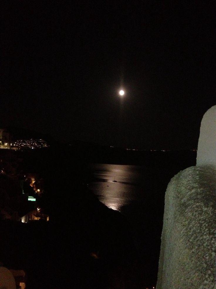 Santorini full moon