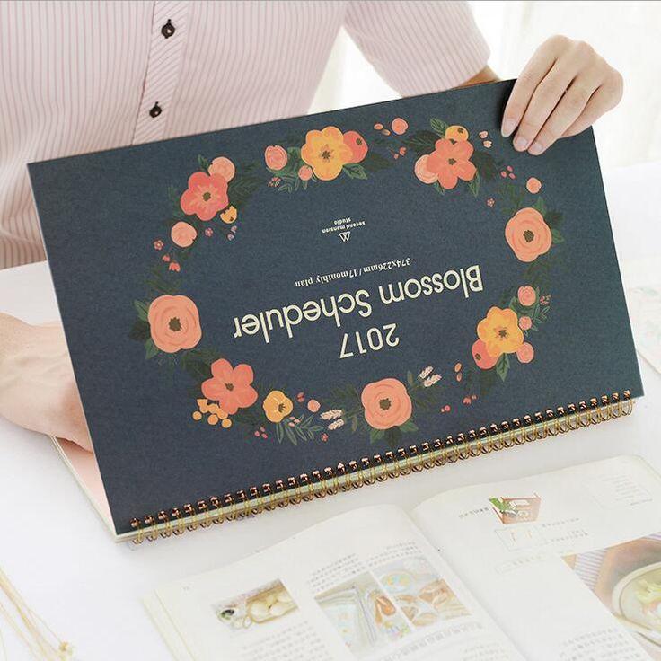 """Big Blossom"" 2017 Desk Calendar Table Agenda Study Working Scheduler To Do List Planner Cute Gift Big Size"