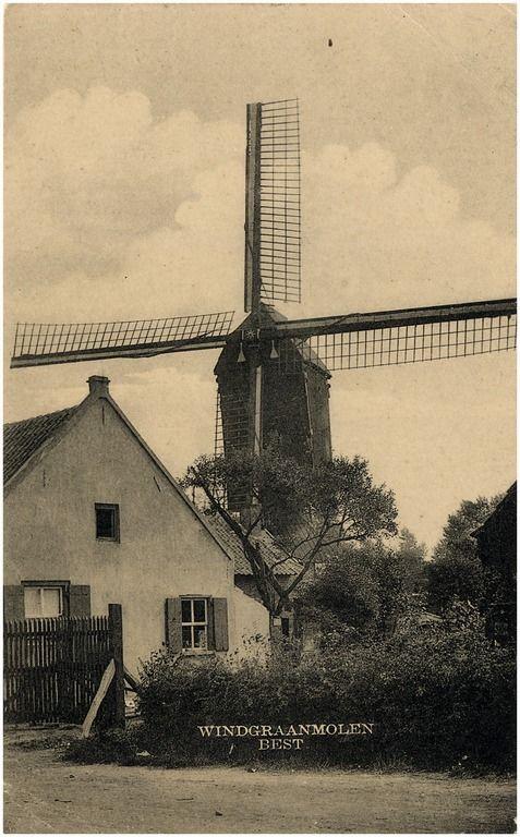 Molenhuis met de in 1928 afgebroken molen
