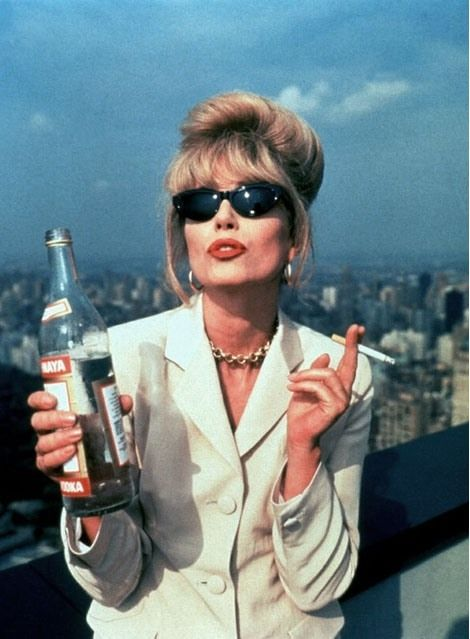 Patsy Stone in Absolutely Fabulous played by Joanna Lumley. Or just Joanna Lumley, I'm not fussy.