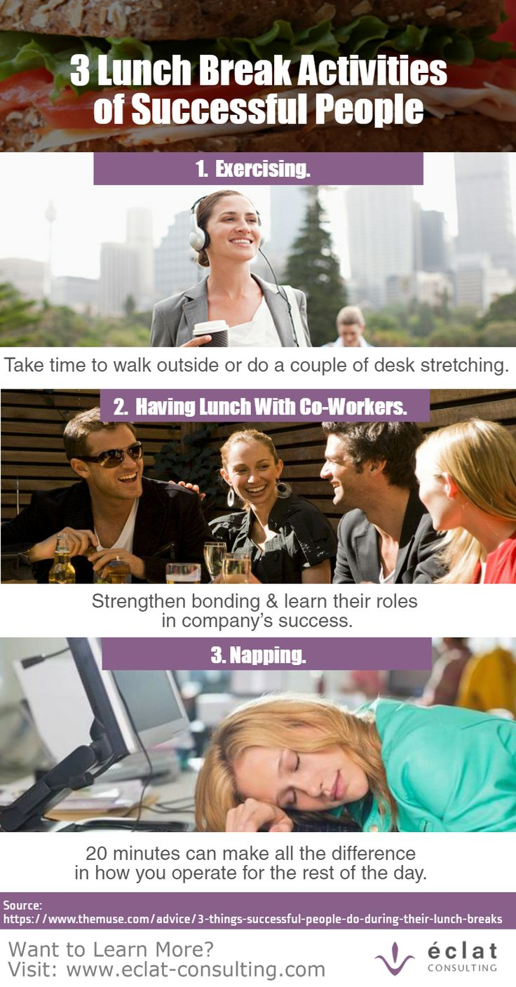 Spend some time to learn: 3 Lunch Break Activities of Successful People.