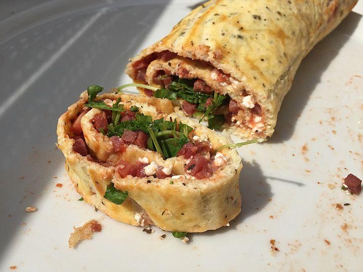 Low carb Rezepte: Low Carb Pizzarolle