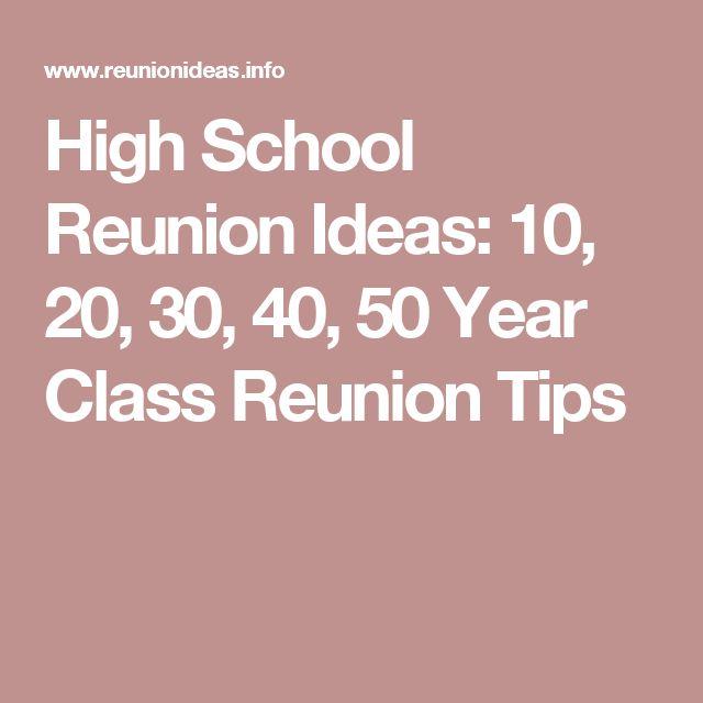 High School Reunion Ideas: 10, 20, 30, 40, 50 Year Class Reunion Tips