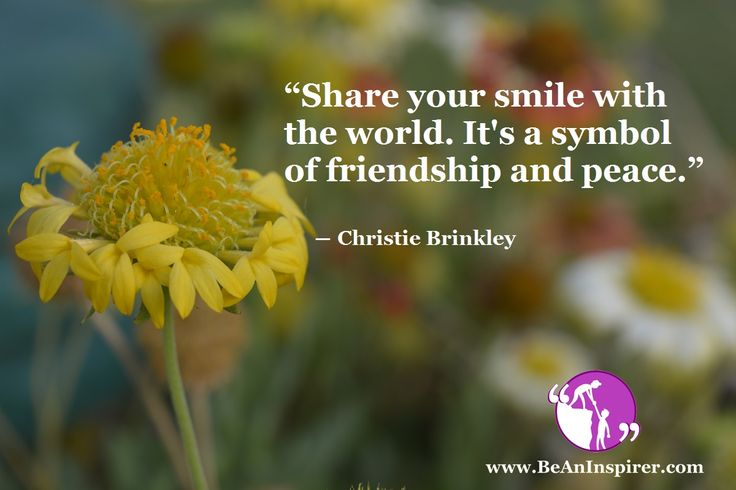 The Power of a Positive Smile – means of Peace and Friendship: #Friendship #Smile #ThoughtForTheDay #Nature #MacroPhotography #BeAnInspirer