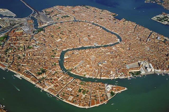 Foto aérea de Venecia