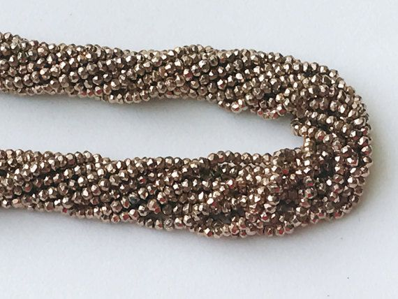 WHOLESALE 5 Strands Rose Gold Pyrite Beads Rose by gemsforjewels