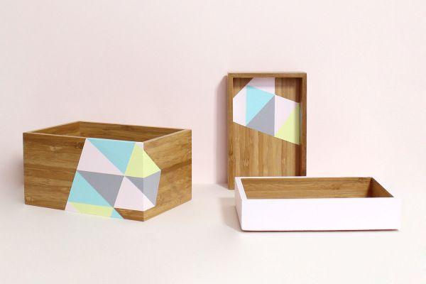 Relooker des boites, triangles, DIY. Super tuto peinture