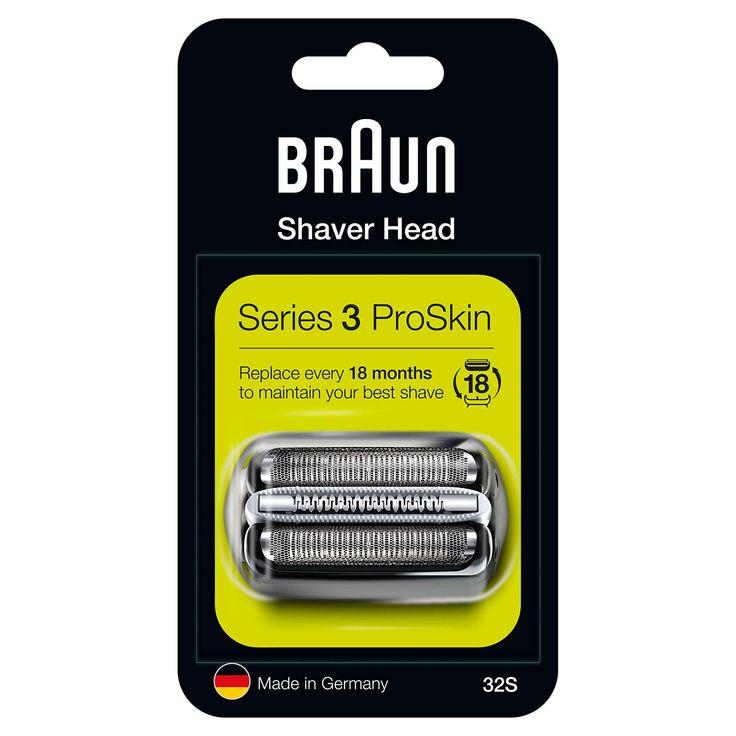 Braun 32s Argento Testina Di Ricambio Per Rasoio Elettrico Uomo Series 3 Per Un Rasoio Come Nuovo Ogni Giorno Braun Shaver Shaver Best Shave